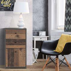 Gama Glover este o variantă practică și estetică, ideală pentru un interior amenajat în stil industrial.  #mobexpert #mobexpertromania #stoclimitat #mobilierdormitor #reduceri Stil Industrial, Nightstand, Retro, Hot, Interior, Modern, Table, Furniture, Design