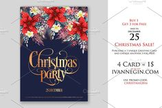 Christmas Card www.ivannegin.com by Ivan Negin on @creativemarket