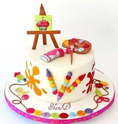 art/craft cake ideas - Google Search