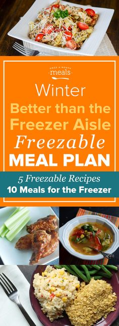 Try your hand at making some of your freezer aisle favorites at home! Get the most out of your grocery budget with this Better than the Freezer Aisle Mini Menu that includes five copycat freezer meal recipes for favorites like Amy's Mexican Tamale Pie and Lean Cuisine Chicken Margherita.