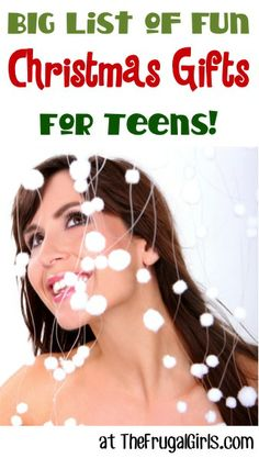 BIG List of Fun Christmas Gift Ideas for Teens! ~ from TheFrugalGirls.com #Christmas #gifts