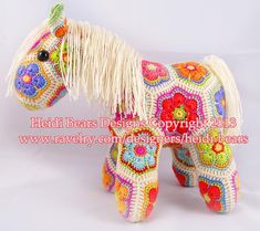 (4) Name: 'Crocheting : Fatty Lumpkin the  African Flower Pony