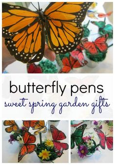 These butterfly pens makes such a cute spring gift for your favorite teacher, friend or as a party favor. Find out how to make your own butterfly pen with your kids! #teachmama #butterfly #butterflypen #kidscraft #kidactivities #spring #springcraft #teacherappreciation