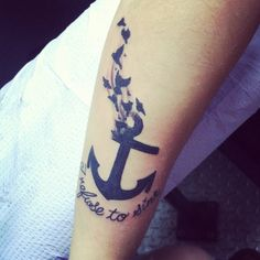 I refuse to sink ⚓⚓⚓ my new tattoo !
