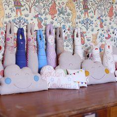 Happy Cloud Cushions & Bunnies.