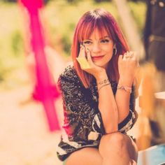 Lily Allen. Lily is British singer with the most sassy and pointfull (That probably Isn't word) texts I know. I freaking Love all her songs
