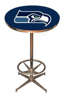 NFL Sports Products - Seattle Seahawks Pool Table – Pub Table, Pool Table Lights, Bar Stools