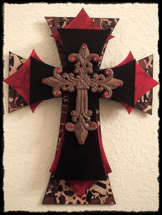 Crosses with red