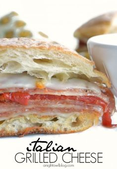 Italian Grilled Cheese - like a grownup T-Bolt sandwich! I would put tomato sauce on the side to dip!