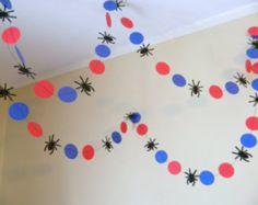 Spiderman cumpleaños decoraciones del hombre araña guirnalda