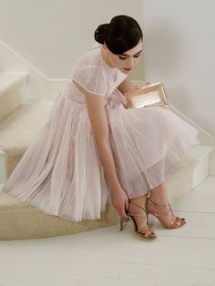 Gorgeous pink bridesmaids dress by Ted Baker (via The English Wedding Blog)