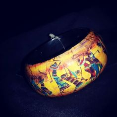 #Warli design hand painted bangle