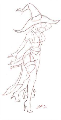 Witch Disharmoni sketch by Solarcx