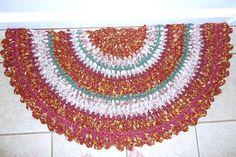 Handmade Cotton Crochet Rag Rug Half Moon by generationslampwork, $75.00