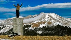 Soaking up blue skies and snow-dusted peaks along the Guanella Pass Scenic Byway, near Georgetown, Colorado