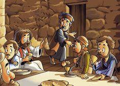 SGBlogosfera. Amigos de Jesús: PREPARAMOS LA SEMANA SANTA Bible Cartoon, Jesus Cartoon, Cartoon Pics, Jesus Crafts, Bible Crafts, Bible Art, Bible Stories For Kids, Bible Lessons For Kids, Idees Cate
