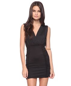 Shirred Surplice Dress | FOREVER21 - 2015035914  I love the class :)