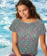 Micro Cosmic Color Top - Free Pattern