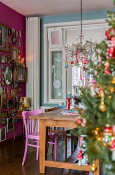 """This cosy dining area is from our feature """"Home for Xmas"""""""