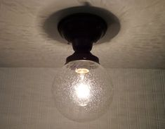 Semi-Flush CEILING LIGHT with Seeded Globe