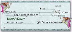 Le chèque de l'abondance