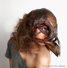 Ghost Wearable Art by VagabondMetal on Etsy, $7200.00-alot of cash for halloween mask...