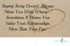 Value the relationship more than the ego!!! www.womenpla.net
