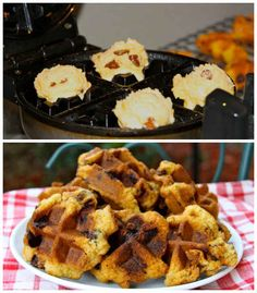 Chocolate Chip Cookies 17 Unexpected Foods You Can Cook In A Waffle Iron Waffle Iron Cookies, Waffles, Waffle Maker Recipes, Foods With Iron, Cookie Dough Recipes, Cookies Et Biscuits, Chip Cookies, Food To Make, Cooking