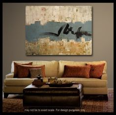 idea for living room painting - i like the background texture