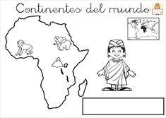 "Proyecto ""La vuelta al mundo"". Fichas para imprimir. Kids Education, Continents, Social Studies, Montessori, Activities, World, Memes, Flags, Homeschooling"