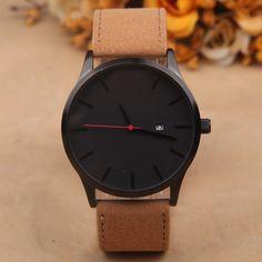 $8.78 (Buy here: https://alitems.com/g/1e8d114494ebda23ff8b16525dc3e8/?i=5&ulp=https%3A%2F%2Fwww.aliexpress.com%2Fitem%2FQuartz-Men-Watch-No-Digital-Watch-Displays-The-Date-Watches-Leather-Men-s-Business-Watch-Retro%2F32721065429.html ) Quartz Men Watch No Digital Watch Displays The Date Watches Leather Men's Business Watch Retro Simplicity 2016 LZ578 for just $8.78