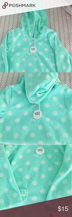 pretty nice 0a4b5 13bca NWT- Jumping Beans Print Fleece Henley Hoodie Soft and Cozy perfect for  Fall or Winter Pullover Hoodie with two side pockets 2 Buttons Size Color  is more of ...