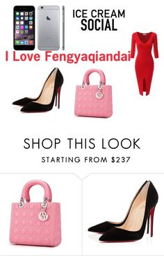 """I Love Fengyaqiandai 20151109002"" by houseofhello on Polyvore featuring Christian Louboutin and Doublju"