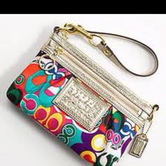 Coach Wristlet from Poppy Collection