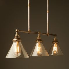 Kitchen Lighting - Antique Brass Edison Billiard Table Pendant suspended from cables with a range of metal and glass shade options. For snooker table, pool table or dining table lighting. Billiard Table Lights, Dining Table Lighting, Light Table, A Table, Billiard Room, Table Lamp, Edison Lighting, Antique Lighting, Strip Lighting