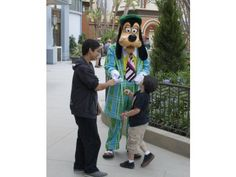 Goofy is dressed in thirties-era get up on Buena Vista Street at Disney California Adventure during the annual passholder sneak peek preview of the new street that will open to the public Friday, June 15.