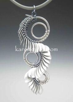 Tiny scaled serpent pendant KarenKaron.com