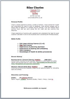 Free Curriculum Vitae Blank Template - http://www.resumecareer.info/free-curriculum-vitae-blank-template-12/