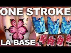Nail art Débutants 10 styles de fleurs one stroke Uñas One Stroke, One Stroke Nails, Diy Nails, Manicure, Purple Pastel, Nail Art Fleur, Fleur Design, Nail Art Videos, Acrylic Gel