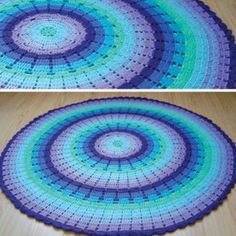 Best Of Rainbow Ripple Blanket Free Crochet Pattern Crochet Round Baby Blanket Carpet Crochet, Crochet Home, Crochet Crafts, Crochet Baby, Crochet Projects, Free Crochet, Crotchet, Crochet Stars, Crochet Circles