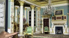 A miniature version of the painted room in Spencer House (Mulvany and Rogers). Credit: Michael Stephens/PA Archive/Press Association Images