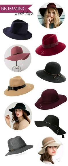 womens hat style names different types of hats caps hats. Black Bedroom Furniture Sets. Home Design Ideas
