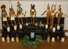 Kemetic Shrine - Pinned by The Mystic's Emporium on Etsy