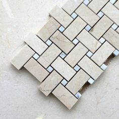 Crema Marfil marble tiles and mosaics Marble Mosaic, Mosaic Tiles, Mosaics, Bathroom Kids, Decorative Tile, Tile Design, Clean House, Modern Design, Decor Ideas