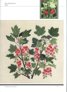ru / Фото - Gerda Bengtsson - Dye plants and fruits in cross-stitch - 19 - irinask Jacobean Embroidery, Vintage Embroidery, Embroidery Patterns, Cross Stitching, Cross Stitch Embroidery, Cross Stitch Patterns, Just Cross Stitch, Cross Stitch Flowers, Diy Broderie