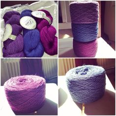 Caked the yarn for lace project