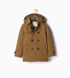 Quilted trench coat with detachable hood-View all-Coats-Boy | 4-14 years-KIDS | ZARA United Kingdom