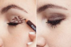 Get the perfect smoky eye by drawing a hashtag on the outer corner of your eyelid and smudging it out with the sponge.
