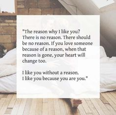 Romantic Love Quotes remanence-of-love: I like you because you are... - #Love