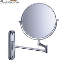 2016 Free Shipping High Quality Solid Brass Chrome Cosmetic Mirror In Wall Mounted Mirrors Bathroom Accessories Products-60020